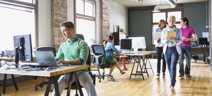 Entreprenörer kontorshotell